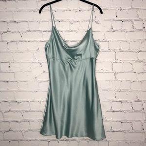 Victoria's Secret Slip Draped Front Mini Dress Blu